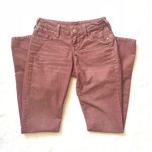 True Religion Maroon Corduroy Pants